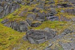 Berg Hibiny, Colahalvön, Nord, sommar, mörker fördunklar Fotografering för Bildbyråer