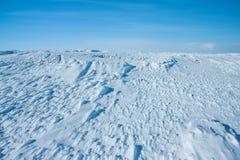 Berg Hibiny på vintern Arkivfoton