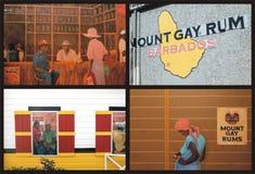 Berg-homosexueller Rum Barbados lizenzfreie stockfotografie