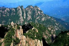 Berg Huangshan, Anhui, China Stockfotos