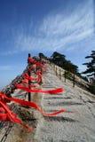 Berg Huashan västra maximala Lotus Flower Peak Arkivfoto