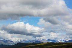 Berg i Alaska Arkivfoto