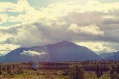 Berg i Alaska royaltyfria bilder