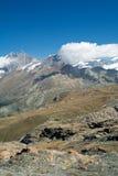 Berg i alpsna Arkivbild