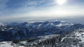 Berg i alpsna Arkivfoto
