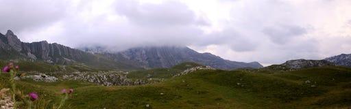 Berg i den Durmitor nationalparken, Montenegro Royaltyfri Foto