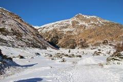 Berg i den Gastein dalen i vinter, Österrike, Europa Fotografering för Bildbyråer