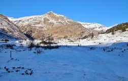 Berg i den Gastein dalen i vinter, Österrike, Europa Royaltyfri Foto