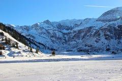 Berg i den Gastein dalen i vinter, Österrike, Europa Arkivfoton