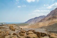 Berg i den Judaean öknen och det döda havet, Israel arkivbild