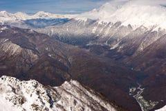 Berg i den Sochi semesterorten Royaltyfri Fotografi
