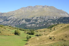 Berg i den Tena dalen, Pyrenees Panticosa Royaltyfria Bilder
