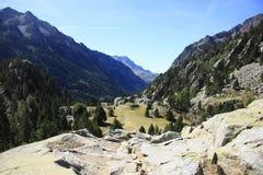 Berg i den Tena dalen, Pyrenees Panticosa Royaltyfria Foton