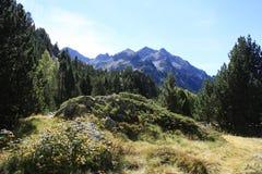 Berg i den Tena dalen, Pyrenees Panticosa Fotografering för Bildbyråer