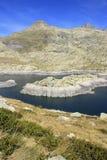 Berg i den Tena dalen, Pyrenees Panticosa Arkivbild