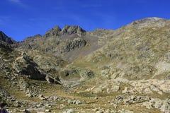 Berg i den Tena dalen, Pyrenees Panticosa Royaltyfri Bild