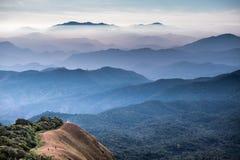 Berg i det Chiang Mai landskapet, Thailand Arkivfoto