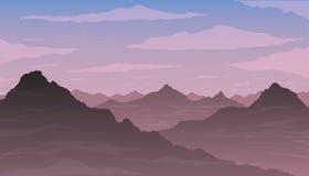 Berg i dimma Royaltyfri Foto
