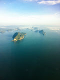 Berg i havet Royaltyfria Foton
