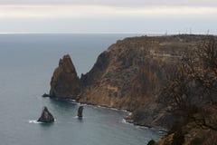 Berg i havet Royaltyfri Bild
