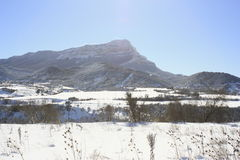 Berg i Jaca, Pyrenees Arkivfoton