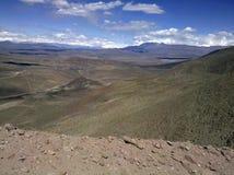 Berg i Jachal i Argentina Arkivbilder