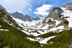 Berg i nationalparken Durmitor, Montenegro Royaltyfri Foto