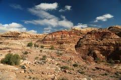 Berg i Petra, Jordanien arkivfoto
