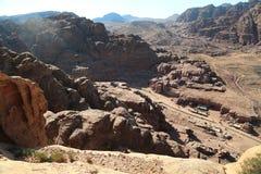 Berg i Petra, Jordanien arkivbilder