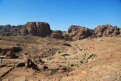 Berg i Petra, Jordanien royaltyfri foto