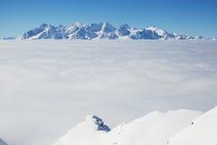 Berg i Schweiz Arkivfoton