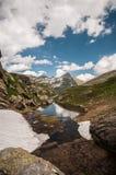Berg i Schweiz fjällängar Arkivbilder