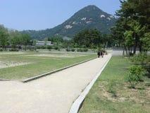Berg i Seoul, Sydkorea Arkivfoton