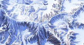 Berg i snow Arkivbilder
