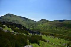 Berg i Snowdonia Arkivfoto