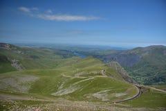 Berg i Snowdonia Arkivbilder