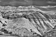 Berg i svartvita Utah - Arkivfoton