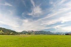 Berg i sydlig Tyskland Arkivfoto