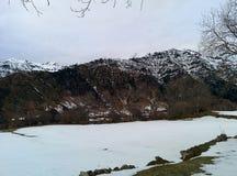Berg i vinter Arkivbilder