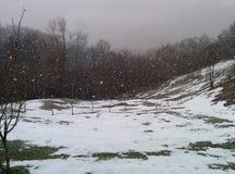 Berg i vinter royaltyfria foton