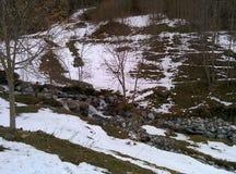Berg i vinter royaltyfria bilder