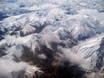 Berg i vintern Arkivbilder