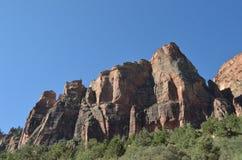 Berg i Zion Arkivfoton