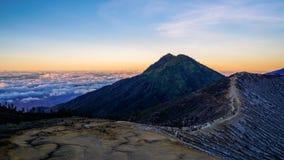 Berg Ijen, Java, Indonesië Royalty-vrije Stock Foto's
