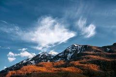 Berg im Schnee Stockbild