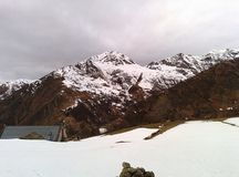 Berg im Winter Stockbild