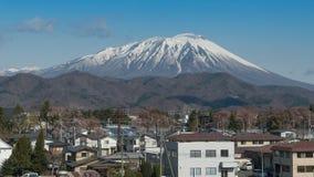 Berg Iwate i vår Arkivbild