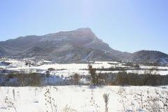 Berg in Jaca, de Pyreneeën Stock Foto's