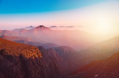 Berg Jebel Jais in Ras Al Khaimah lizenzfreies stockfoto