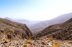 Berg Jebel Jais in Ras Al Khaimah Stockfotos